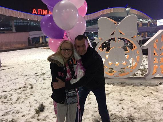 встреча сестры и брата в Казахстане на Новый год в 2017 и 2018 году